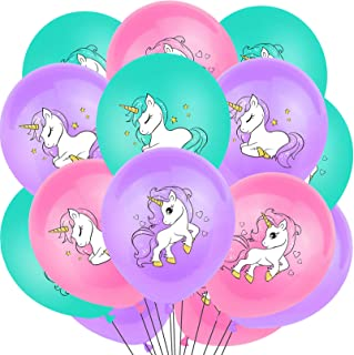 Unicorn Balloons Unicorn Birthday Party Decorations Supplies 18 Pcs/Set Cute Colorful Latex Balloons Unicorn Party Supplie...