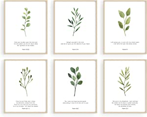Haus and Hues Bible Verses Wall Decor - Set of 6 Christian Wall Decor Scripture Wall Art Bible Verses Wall Art Bible Verse Wall Decor Scripture Art Wall Decor Christian Posters UNFRAMED (8