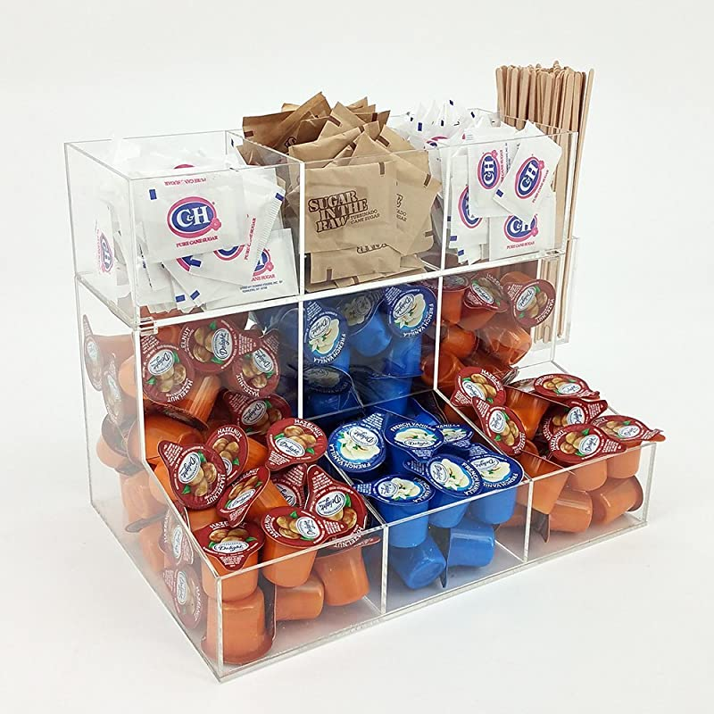 OnDisplay Acrylic Sugar Creamer Station With Removable Top Tier