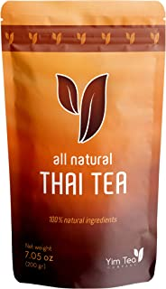Thai Tea - 100% Natural Loose Leaf Tea Mix - Made with Assam Black Tea - Makes Iced Tea and Boba Tea - By Yim Tea Co. (200g)