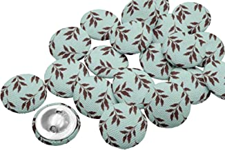 IBA Indianbeautifulart 2 Holes Round Buttons for Sewing 1 Inch Printed Handmade Decorative Buttons Pack of 50