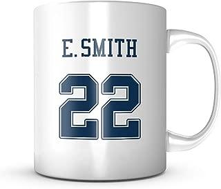 Emmitt Smith Mug - Dallas Football Jersey Number Coffee Cup 11 oz