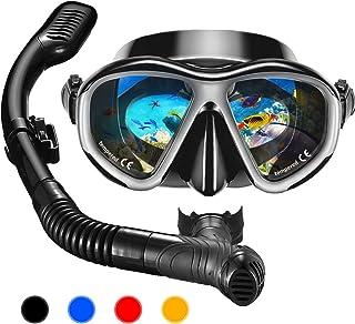 مجموعه OMORC Snorkel ، ضد مه شفاف ضد آب ماسک مقاوم در برابر ضربه ، شیشه ای پانورامیک مقاوم در برابر ضربه ، تنفس رایگان ضد نشت ضد خشکی بالا ، مجموعه فوق تخصص غواصی جوانان در بزرگسالان