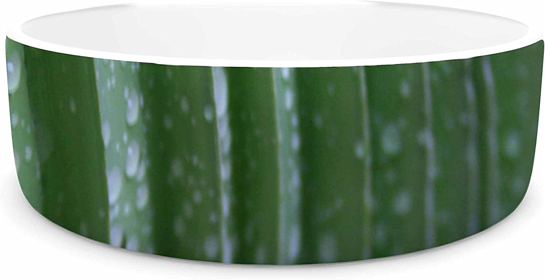 KESS InHouse Cyndi Steen Green Palm Frond  Green Nature Pet Bowl, 7