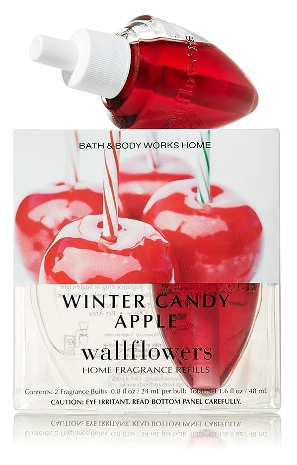 ルーエレガント十分Bath & Body Works【バス&ボディーワークス ウィンター アップル キャンディー ルームフレグランス 2本セット】【並行輸入品】