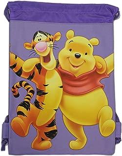 Purple Winnie the Pooh Drawstring Bag - Kids Drawstring Backpack