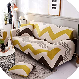 Brilliant-Mirror Slipcover Stretch Sofa Cover Couch Cover Loveseat Chair L Style Sofa Slipcover Fully Wrapped Corner Sofa Covers,Color 7,2-Seater 145-185Cm
