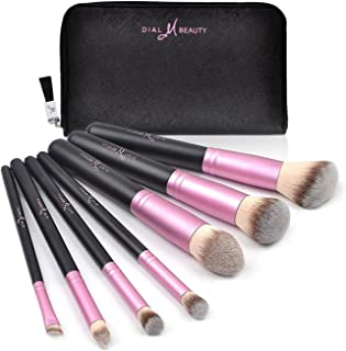 Makeup Brushes Set 8pcs Synthetic Foundation Blending Powder Blush, Travel Bag