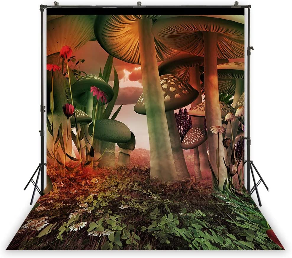 3x5ft Floral Pattern Backdrop Birthday Portrait Green Mural Background Cake Table Decoration Photography Filming Photocall Wallpaper XT-7171
