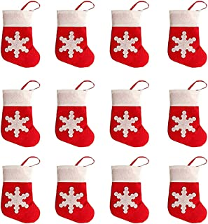 Naladoo 12pcs Christmas Xmas Decor Kitchen Tableware Holder Pocket Cutlery Package Colorful Fancy Design