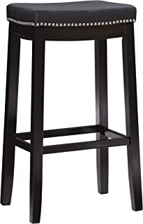 Linon Claridge 80cm Bar Stool in Black