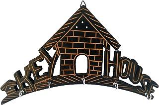 Craftatoz Handcrafted Wooden Key Hanger - Black