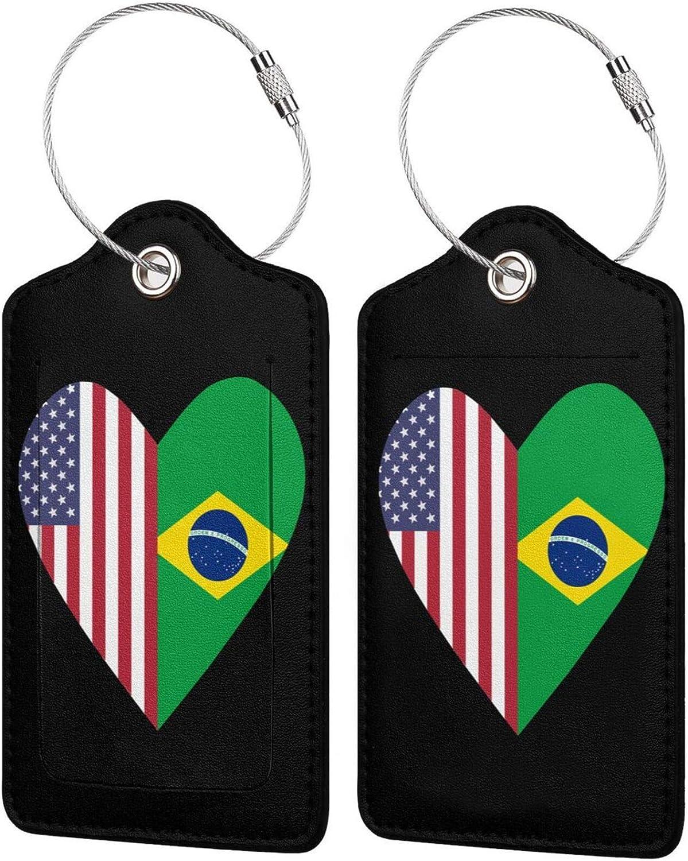 Half Brazil Flag Japan's largest assortment USA Love Award Bag Heart Leather PU Baggage