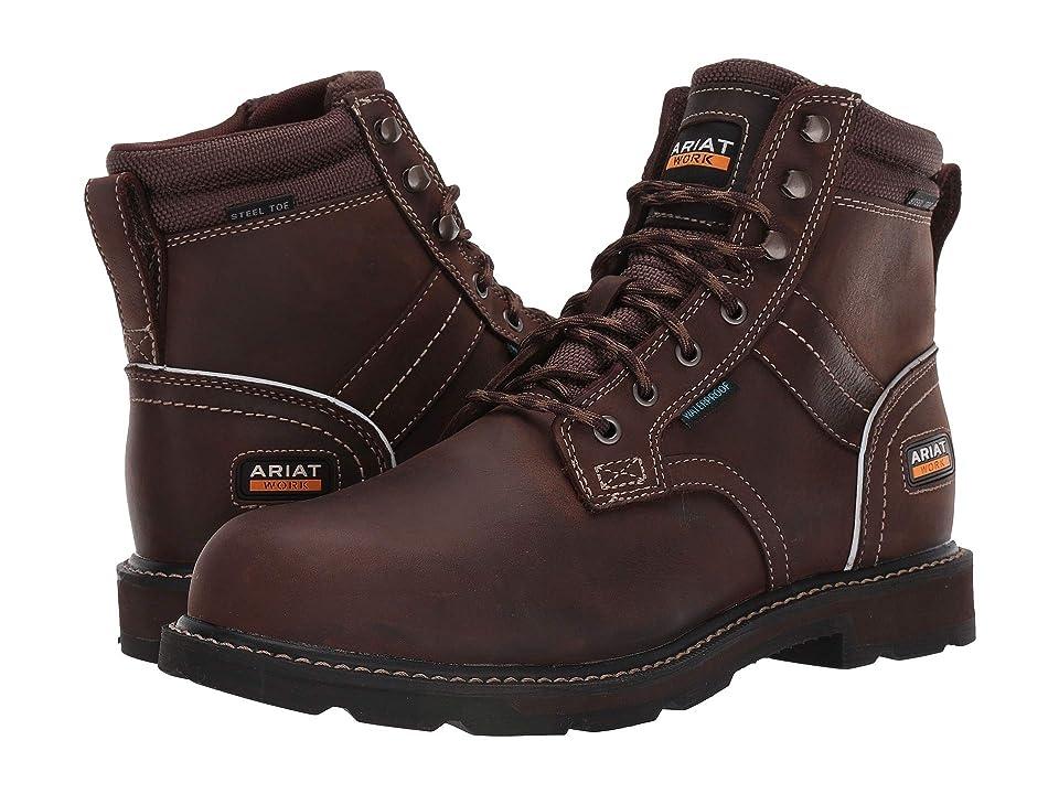Ariat Groundbreaker 6 II H2O Steel Toe (Dark Brown) Men