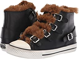 Nappa Wax Black/Eco Fur Amber