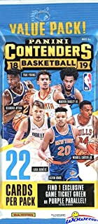 2018/19 Panini Contenders NBA Basketball Factory Sealed JUMBO FAT PACK with EXCLUSIVE Green Ticket or Purple Parallel Look for Rookies & Autos of Luka Doncic, Deandre Ayton, Trae Young & More! WOWZZER