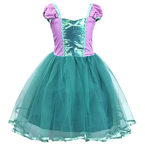 033184319218 Cotrio Princess Cinderella Mermaid Rapunzel Aurora Belle Dress Up Costume  for Baby