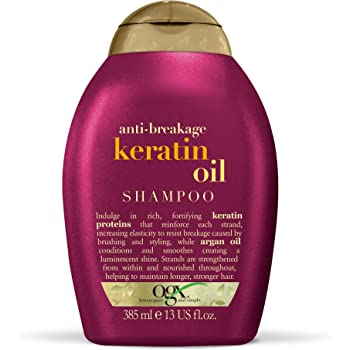 OGX Anti-Breakage Keratin Oil Shampoo, 1er Pack (1 x 385 ml)