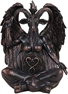 Pacific Giftware Large Seated Baphomet Lucifer Satanic Demon Goat of Mendes Pagan Statue 16 inches