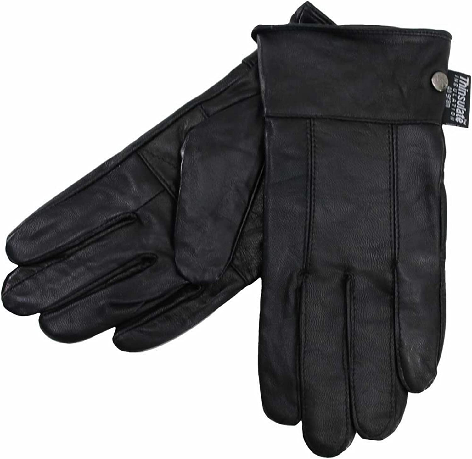 Black Soft Leather Womens Winter 5 ☆ very popular 3M Insulated Gloves Special price for a limited time