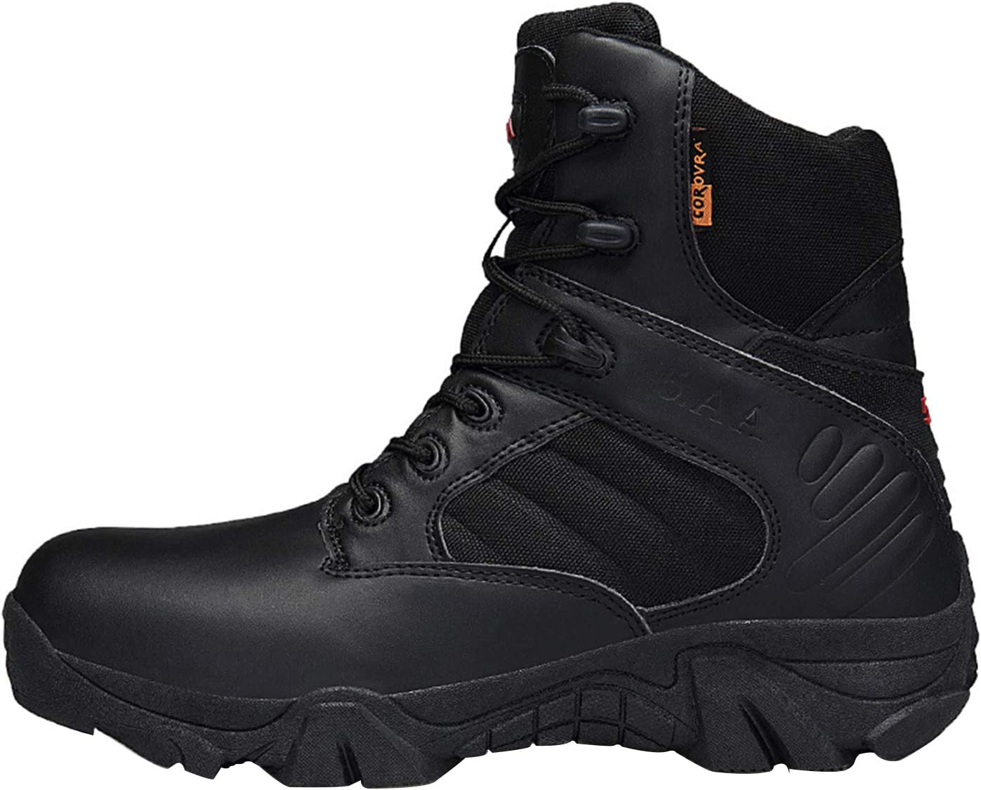 Outdoor Lightweight Men's Combat Boots, Breathable Military Military Boots Durable Safety Work Shoes Lightweight Hiking Walking Boots, Desert Camping Sneakers