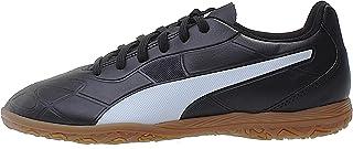 PUMA Monarch IT Jr Boys' Futsal Shoes, Black White