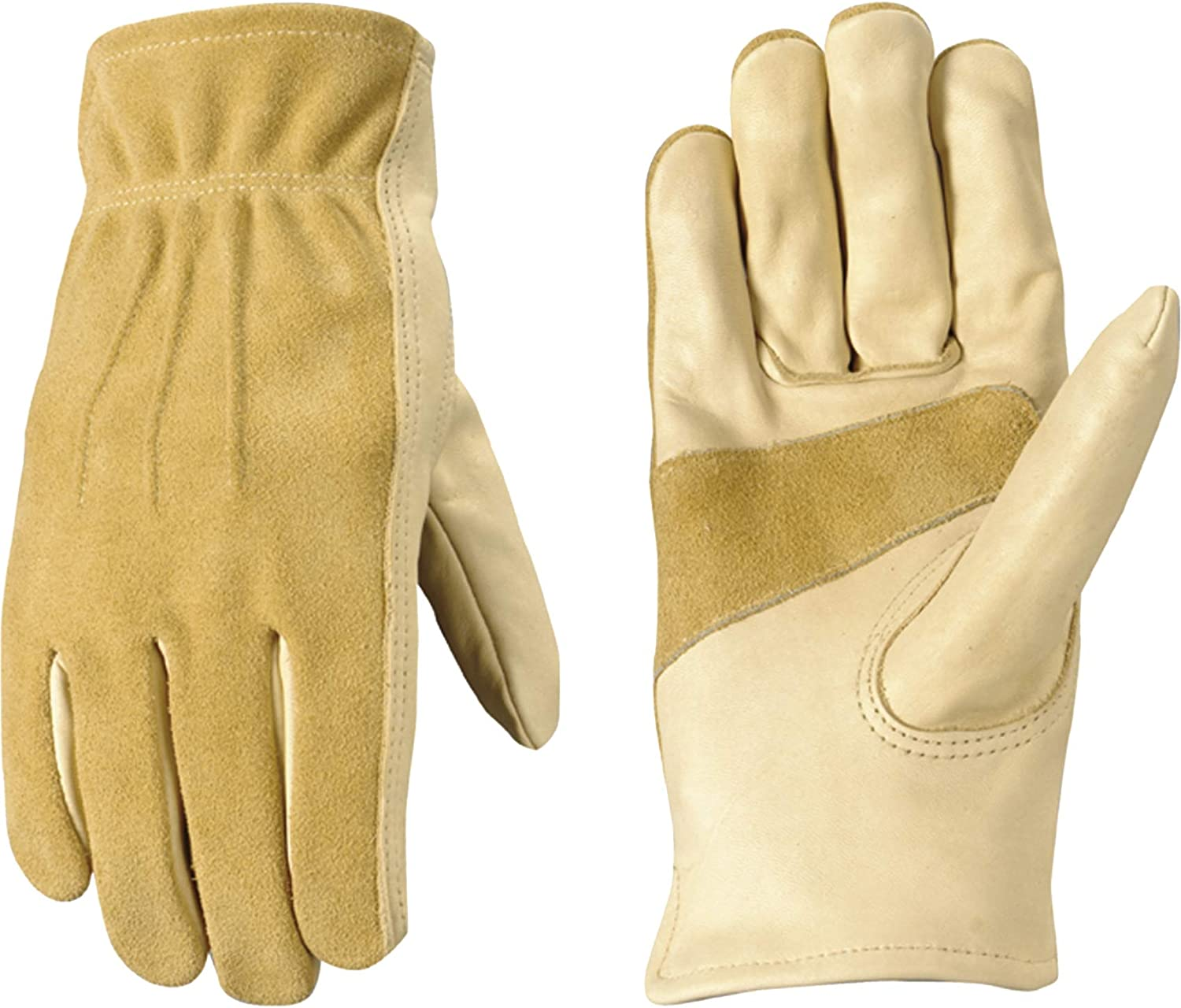 Women's Leather Work and security High material Garden Gloves Duty Cowhide Heavy Grain