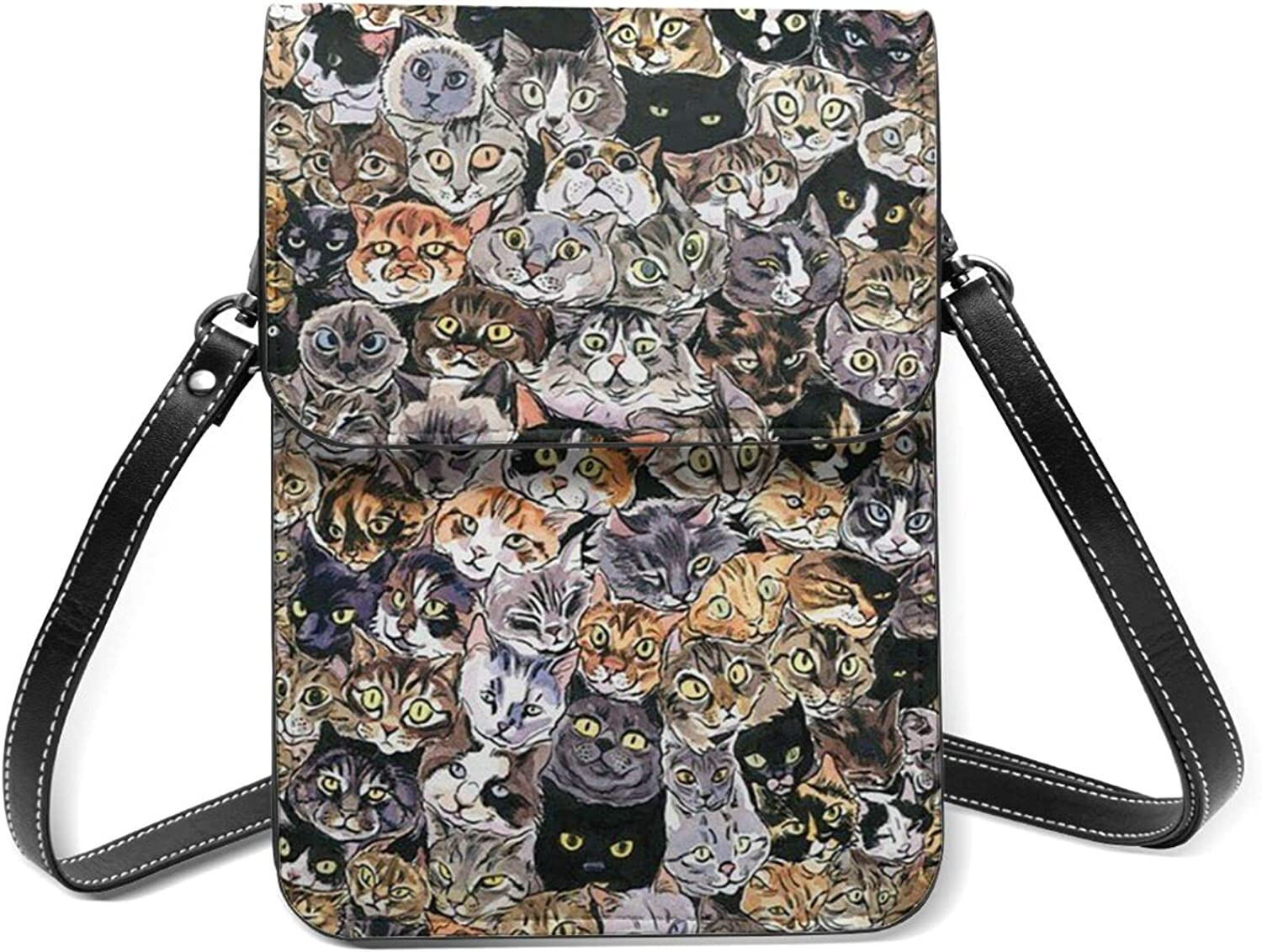 Strange Cat Small Cell Phone Shoulde Flip With Inventory cleanup selling sale Lightweight Spring new work Purse