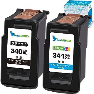 【InkWorld】BC-340XL+BC-341XL リサイクル インクカートリッジ Canon(キヤノン)用 ICチップ付き <BC-340xlブラック+BC-341xl3色カラー 2本セット> 大容量 再生インク インク残量検対応 「対応...