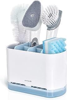 JOMOLA Kitchen Sink Caddy Organizer Sponge Dish Brush Holder for Soap Dishcloth Dishwashing Accessories