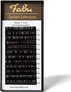 Fabu Individual Classic Eyelash Extensions, Thickness/Diameter 0.12, D Curl, ONE LENGTH PER TRAY (11mm)