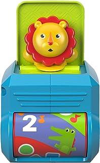 Fisher-Price León caja de sorpresas, juguete para bebé + 6 meses (Mattel FHF77)