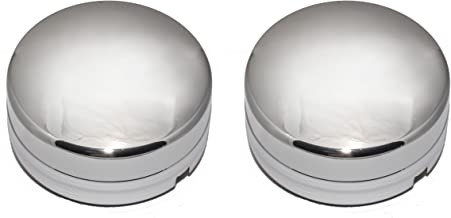 BB Auto New Chrome Wheel Hub Center Caps Replacements for 2003-2017 Dodge Ram 3500 1-Ton Dually Truck (2 Rear Caps)