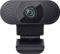 wansview Webcam 1080P mit Mikrofon, Webcam USB 2.0 Plug und Play für Laptop, PC, Desktop, mit automatischer Lichtkorrektu...