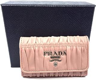 Portachiavi Ganci Pink Orchidea Nappa Gaufre'1 Leather Key Wallet 1PG222