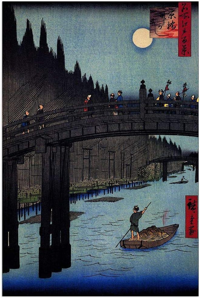 In stock ArtPlaza Hiroshige Outlet SALE Utagawa - Bamboo Yards 27.5 Decorative Panel