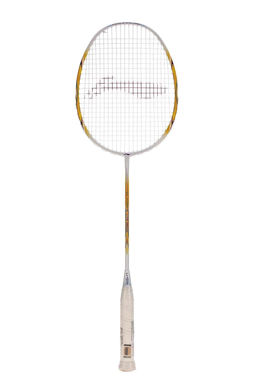 Li Ning G Force Lite 3600 Badminton Racquet  Strung , S2 Grip Size,  White/Gold  Racquets