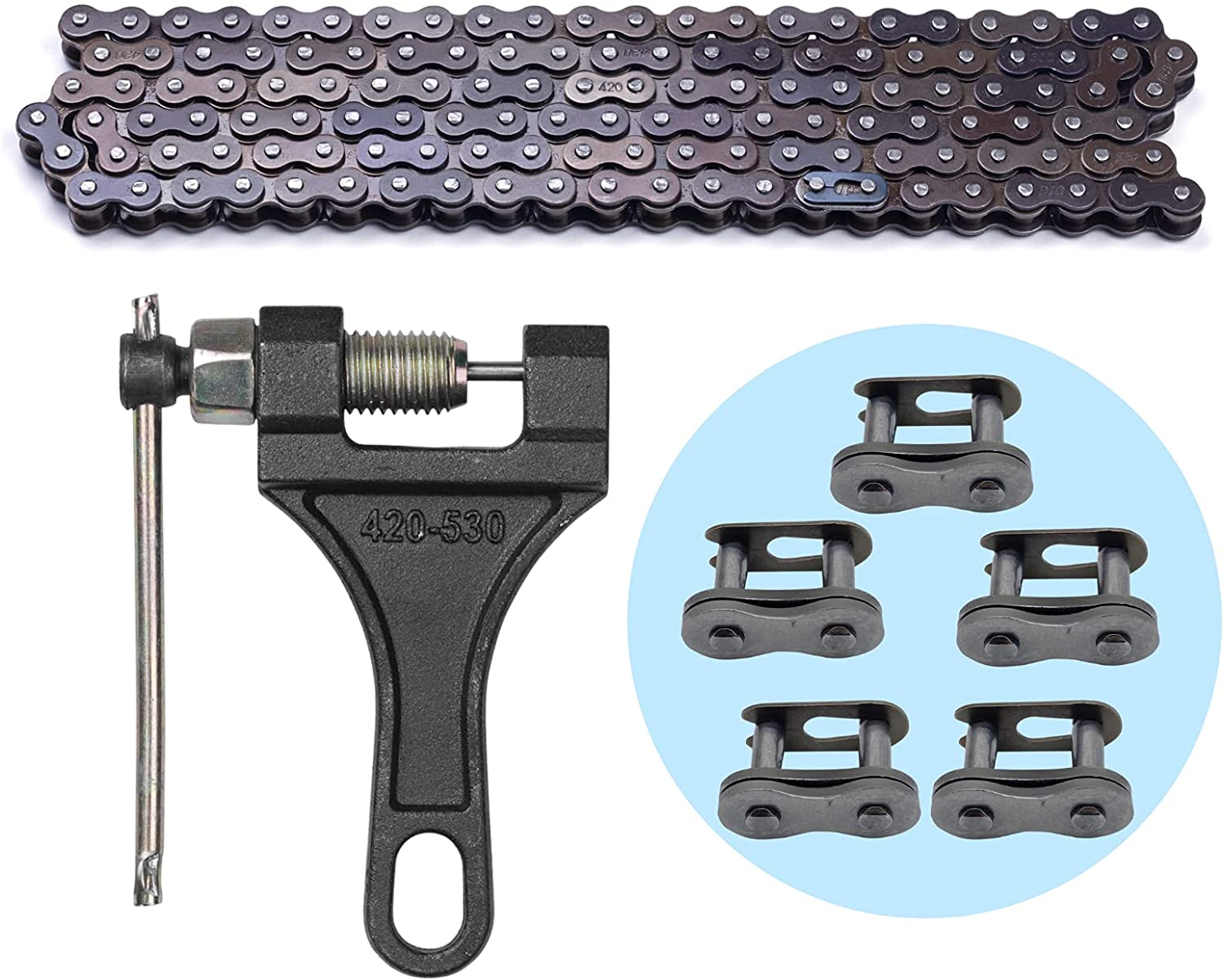 420 Motorcycle Chain - Standard 132 Roller Chai Courier shipping free Link Gifts +