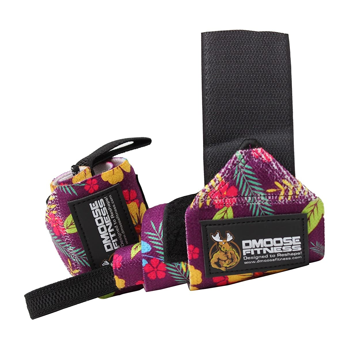 DMoose Fitness Wrist Wraps – Premium Quality, Strong Fastening Straps, Thumb Loops – Maximize Your Weightlifting, Powerlifting, Bodybuilding, Strength Training & Crossfit