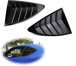 iJDMTOY Left/Right Glossy Finish Racing Style Rear Side Window Scoop Air Vent/Louver Shades For 2013-up Scion FR-S Subaru BRZ and Toyota 86