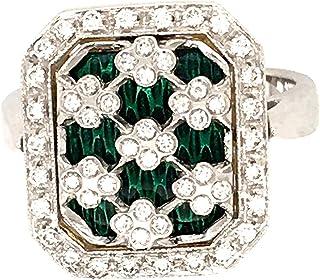 Anello in Oro 18K Diamanti Naturali,SMALTI