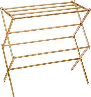 comprar comparacion Relaxdays 10017158 Toallero de bambú, Plegable, Natural, 74x36x71.5 cm