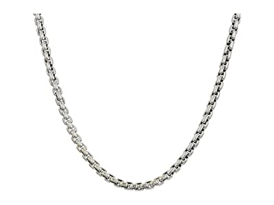 John Hardy 2.6mm Box Chain Necklace Size 24 (Silver) Necklace