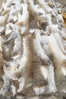 Seek4comfortable Soft Real Rabbit Fur Throw Blanket Rug Patchwork Skin Fur Rug Pelz Leather Pelt Home Kitchen Bed Throws, 43