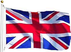 G128 United Kingdom UK Flag British Union Jack Flag Great Britain Flag British National Flag 3x5ft Printed Quality Polyester Brass Grommets Double Stitched