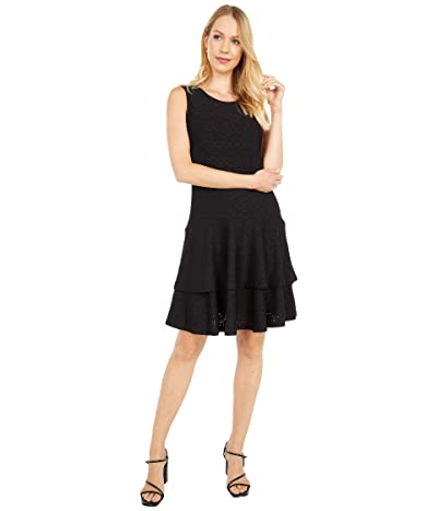 MICHAEL Michael Kors Floral Jacquard Sleeveless Dress (Black) Women