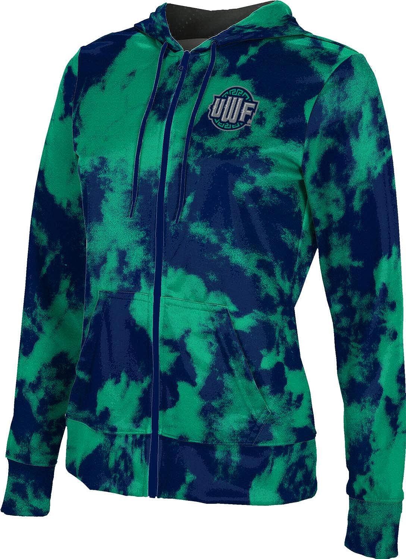 ProSphere University of West Florida Girls' Zipper Hoodie, School Spirit Sweatshirt (Grunge)