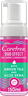 CAREFREE Daily Intimate Cleansing Mousse, women hygiene care, Duo Effect with Green Tea and Aloe Vera, 150 ml