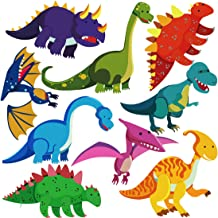 DEKOSH Dinosaur Wall Decals for Nursery Decor | Jurassic World T-rex Colorful Peel & Stick Animal Kids Wall Stickers for B...