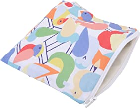 """Itzy Ritzy Reusable Snack Bag –7"""" x 7"""" BPA-Free Snack Bag is Food Safe, Washable and Ideal for Storing Snacks, Pacifiers, Electronics and Makeup in a Diaper Bag, Purse or Travel Bag, Robin in the Hood"""